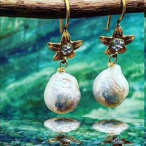 Matana handmade Baroque Pearls earring